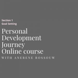 Personal development online course Goals in 5 steps
