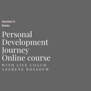 Personal development online course Rules