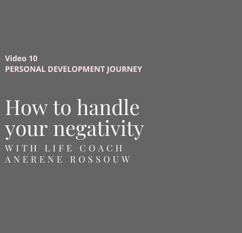 Understanding your negativity