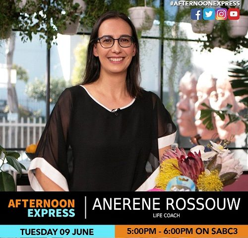 Anerene Rossouw Life Coach at Afternoon Express 2